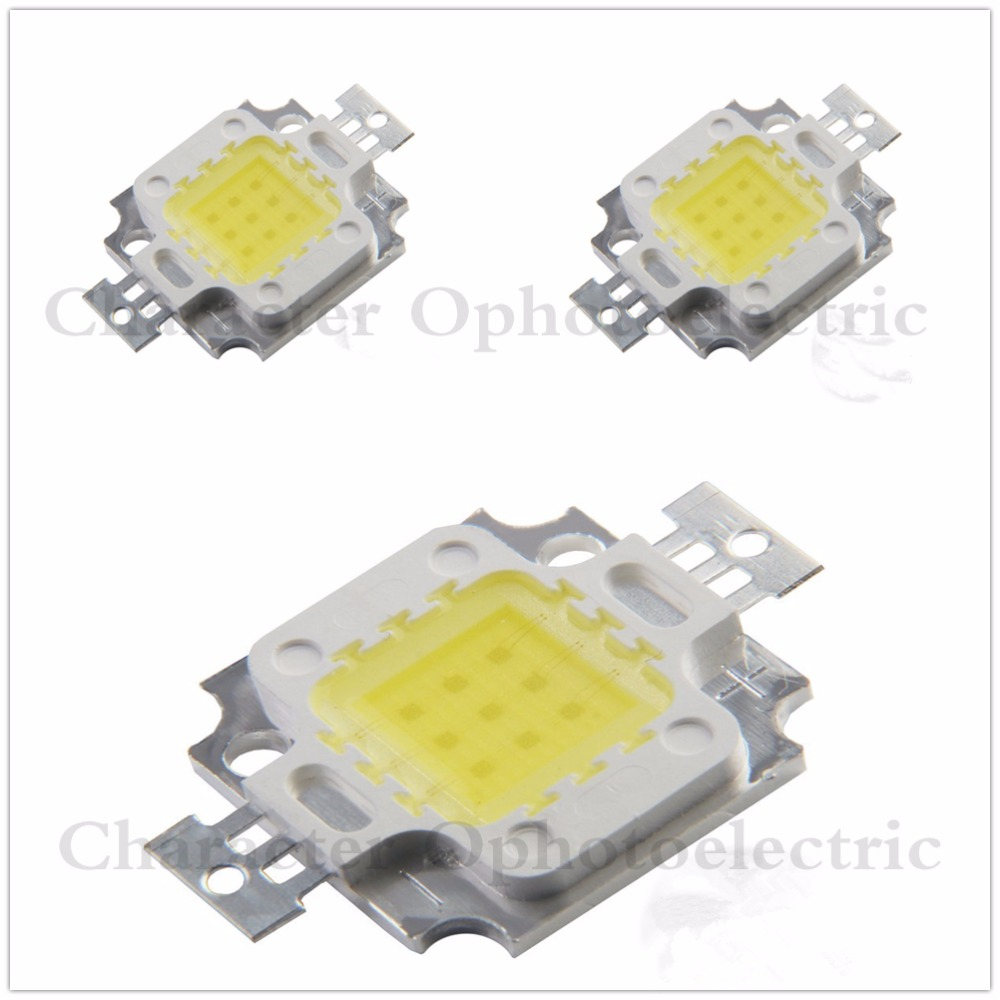 10W Warm White 3000K Cold White 6000K 10000K 20000K 30000K 35mil 45mil Square High Power LED Light chip 1000mA 10-13V 100pcs