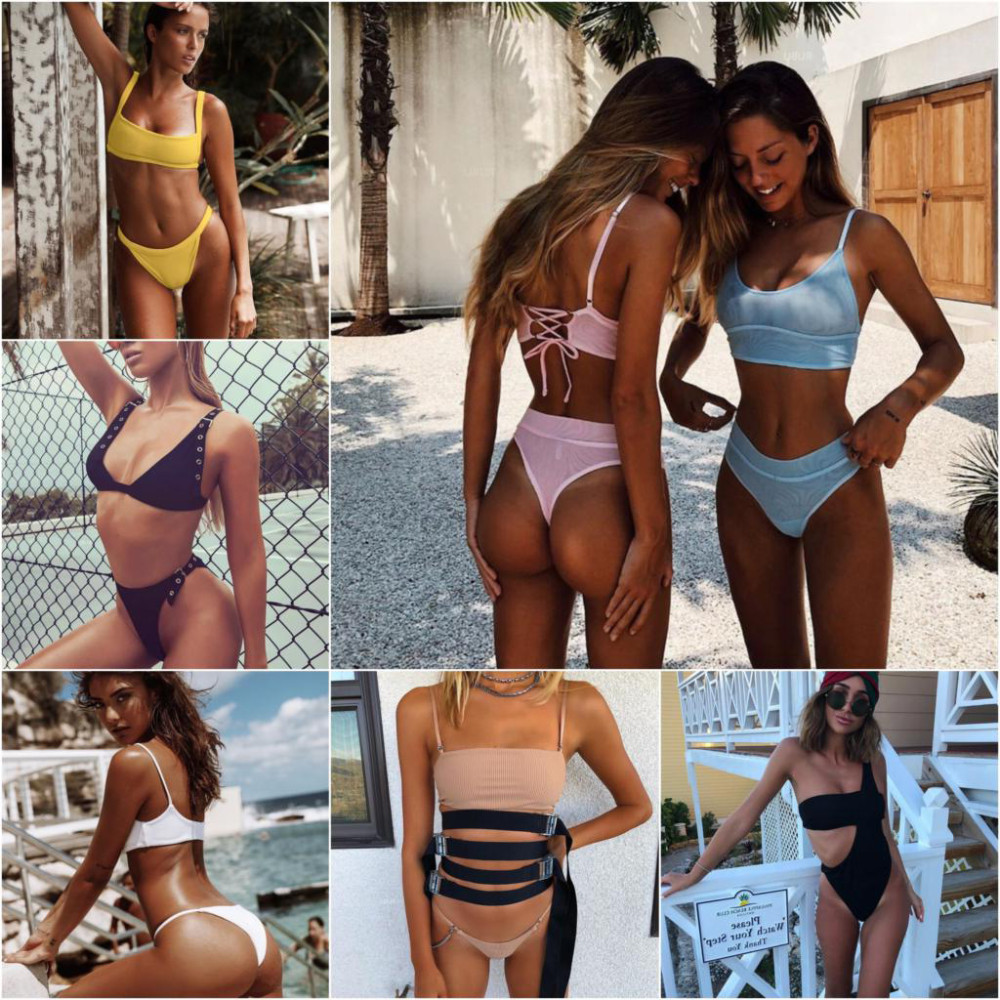 Swimsuit Summer Bikini 2018 Sexy Women Push Up Bikini Set High Waist Bandage Brazilian Bikini Swimwear Biquini Women Badpak