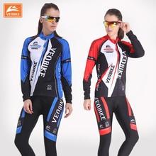 Veobike women cycling jersey autumn professional Woman ride bicycle clothing long sleeve set women's mountain bike