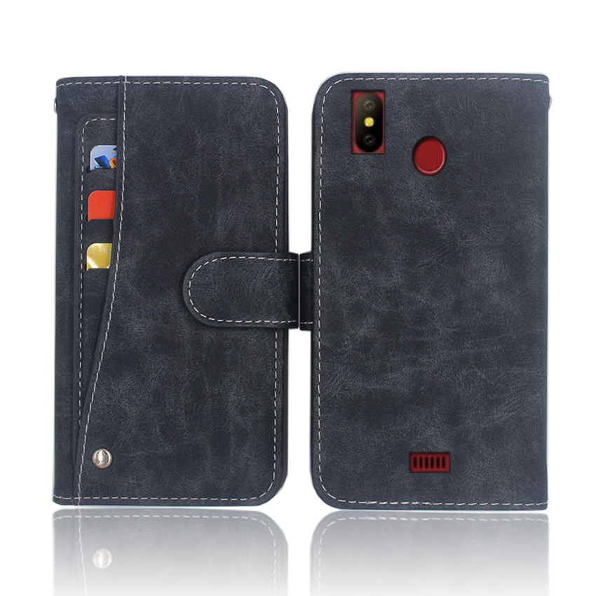 Phone Pouch Universal Belt Clip Phone Pouch Leather Case For Digma Linx Alfa X1 Pro Joy Pay Base Atom Rage Trix B510 Cover With Card Slot