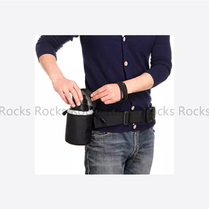 Image 3 - Adjustable Photography Waist Belt Sling Hang Nylon Strap suit For Camera Tripod Holder Lens, fotografia