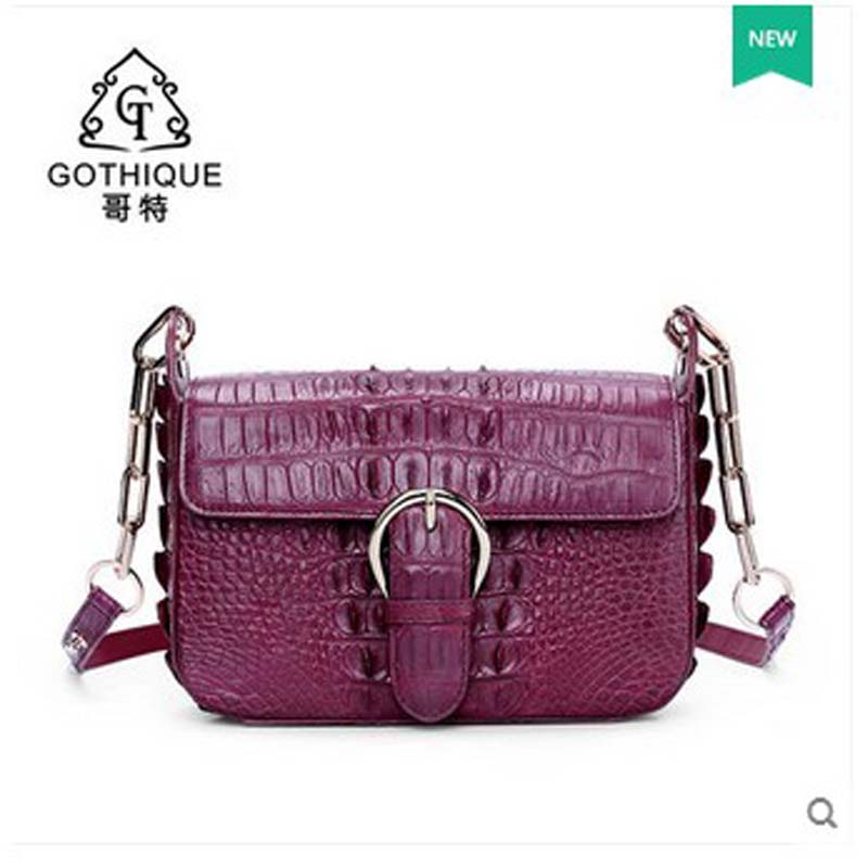 gete 2017 new free shipping women crocodile bag female worn single magnetic bag women chain bag real crocodile skin women bag yuanyu 2018 new hot free shipping real python skin snake skin color women handbag elegant color serpentine fashion leather bag