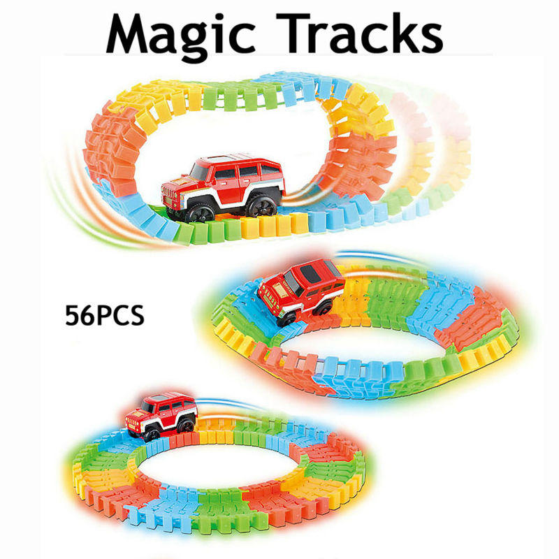 Complemento estupendo speedway pista mágica diy rompecabezas de juguete pista de