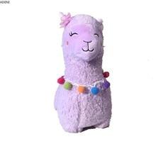 Stuffed Plush Toys for Children Lovely Cartoon Alpaca Plush Doll Toy Soft Sheep Baby Kid and Girls Holiday Present Birthday Gift цена 2017