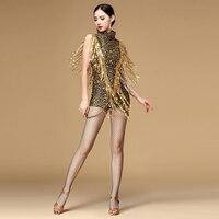 Новинка 2017 года Костюмы для бальных танцев платье для танцев Samba костюм для Для женщин пикантные леопардовым принтом Salsa Платья для женщин с ...