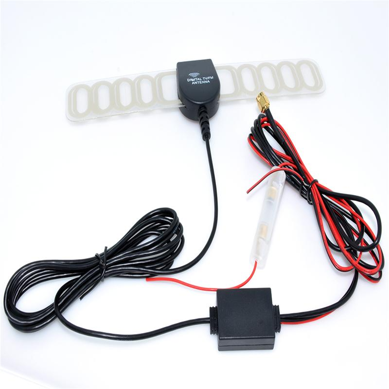 Car Digital TV Active Antenna Mobile Car Digital DVB-T ISDB-T Aerial with a Amplifier Booster Factory Selling+Free shipping WF