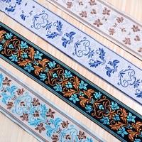 20M/Lot 6CM Wide Jacquard Curtain Lace Trim Belt Laciness Curtain Accessories DIY Sewing Sofa Cushion Lace Ribbon Fabrics