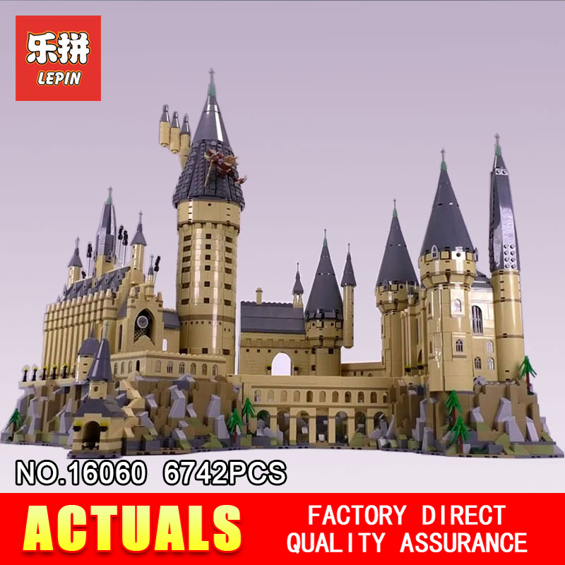 Лепин 16060 Замок Хогвартс Волшебная школа совместим с 71043 развивающие игрушки собраны на день рождения строительные блоки кирпичи