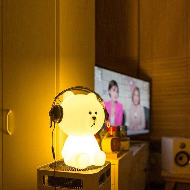 Luz LED nocturna con forma de conejo regulable y recargable, lámpara de noche para dormir para bebés, lámpara de escritorio para niños, regalos de navidad