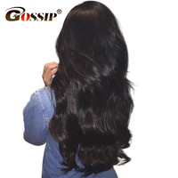 Gossip 13 4 Inch Ear To Ear Lace Frontal Closure Pre Plucked Brazilian Non Remy Body