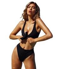 Bikinis Set 2019 chest knotted sexy swimsuit split push up bikini womens 15 colors swimwear women swim suit