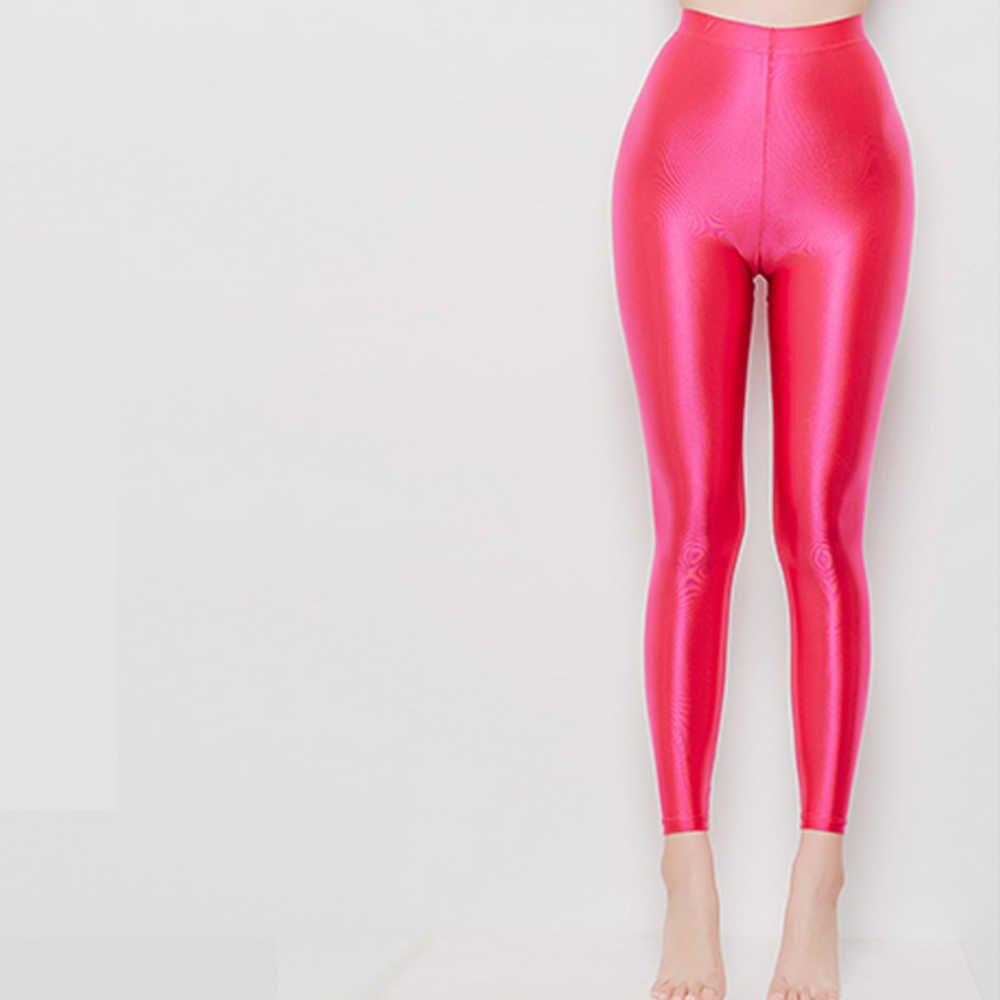 NIDO Del Partito collant mette in evidenza il corpo del diavolo sexy gloss nove pantaloni di colore di disegno a vita alta stretto sexy Calzamaglia LEOHEX