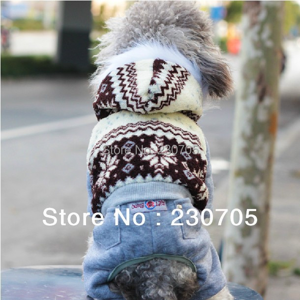 Cute Pet Dog Puppy Cotton Snowflake Clothes , Christmas Apparel Costumes Outfit Suit Cat Dog Clothing 1pcs/lot Free Shipping