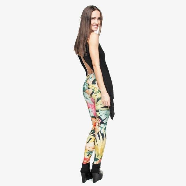 Floral Plant Leggings Women Female Funny Joker 3D Honolulu Leggings Pants Travelling Leggings