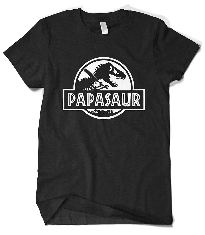 Gildan Mens Fathers Day Gift PAPASAUR Papa Saur T-Rex T-shirt