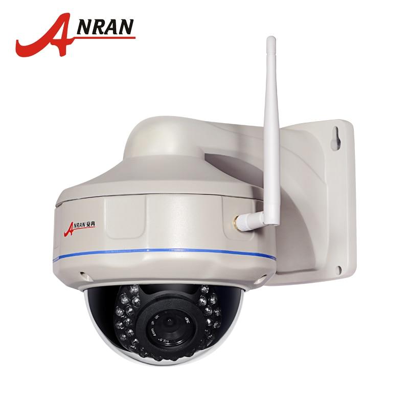 imágenes para Anran onvif 2.0mp 1920*1080 p hd a prueba de vandalismo al aire libre wifi cámara de red ip domo ir cámara de vigilancia de seguridad