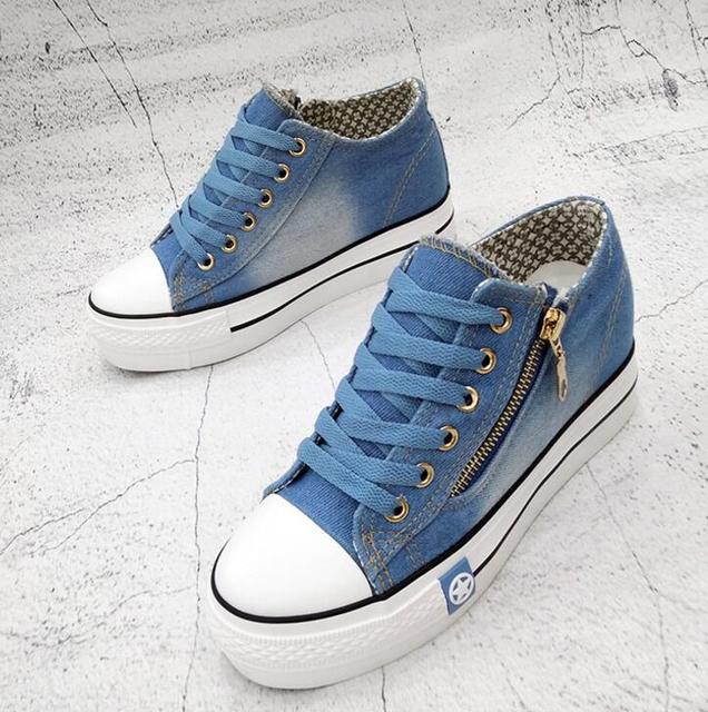 Denim Casual Shoes  Women's 4