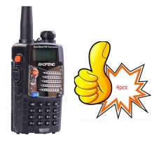 4pcs BAOFENG Two Way Radio UV 5RA UHF 400-520MHz/ VHF 136-174MHz dual band handheld portable walkie talkie