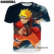 Naruto 3D T Shirt Cartoon Anime One Piece Print Homme Clothing Harajuku Luffy Team