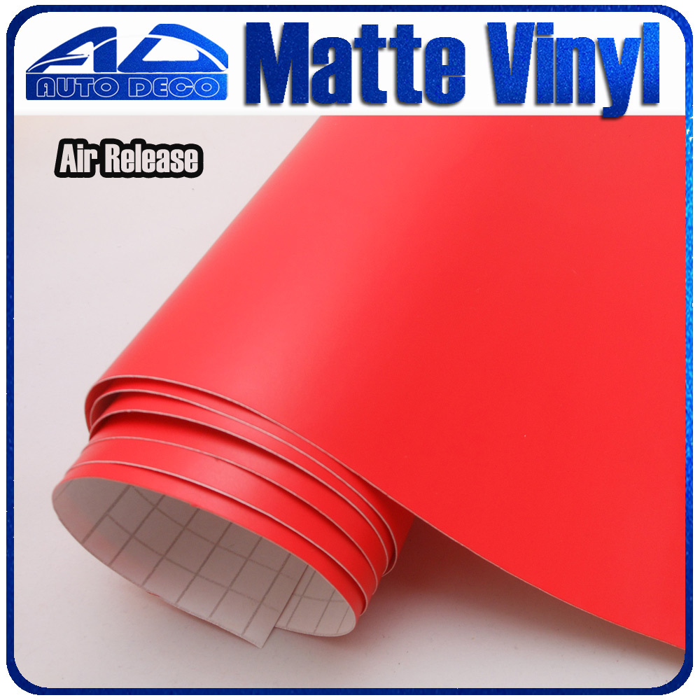 Car Red Matte Vinyl For Car Wrapping Car Cover Film Stickers with air bubble free FedEx Free Shipping 30m/roll quality guarantee silver chrome vinyl film for car wrapping sticker with air bubble free 20m roll