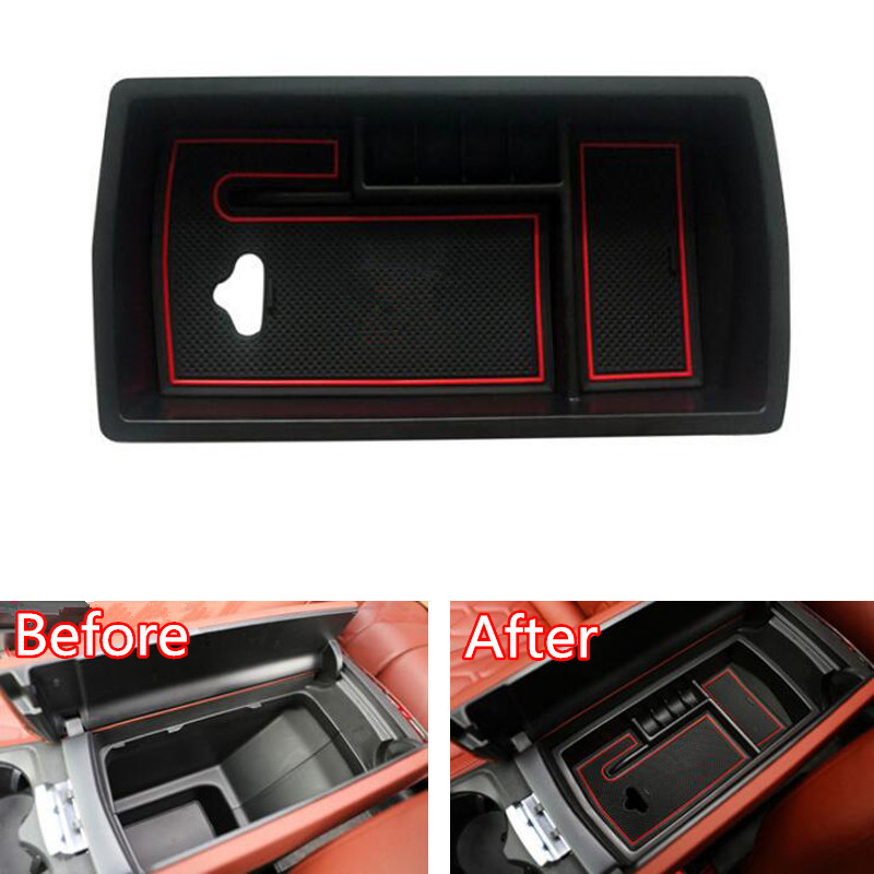 YAQUICKA For <font><b>Peugeot</b></font> <font><b>3008</b></font> 3008GT 5008 2017 2018 Car <font><b>Armrest</b></font> <font><b>Box</b></font> <font><b>Storage</b></font> Glove Holder Container Car Accessories Styling ABS image