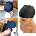 Stocking spandex casquillo de la bóveda para la fabricación de pelucas ajustable stretch redecillas nylon tejer gorras de color negro pelucas accesorios 10 unids/lote