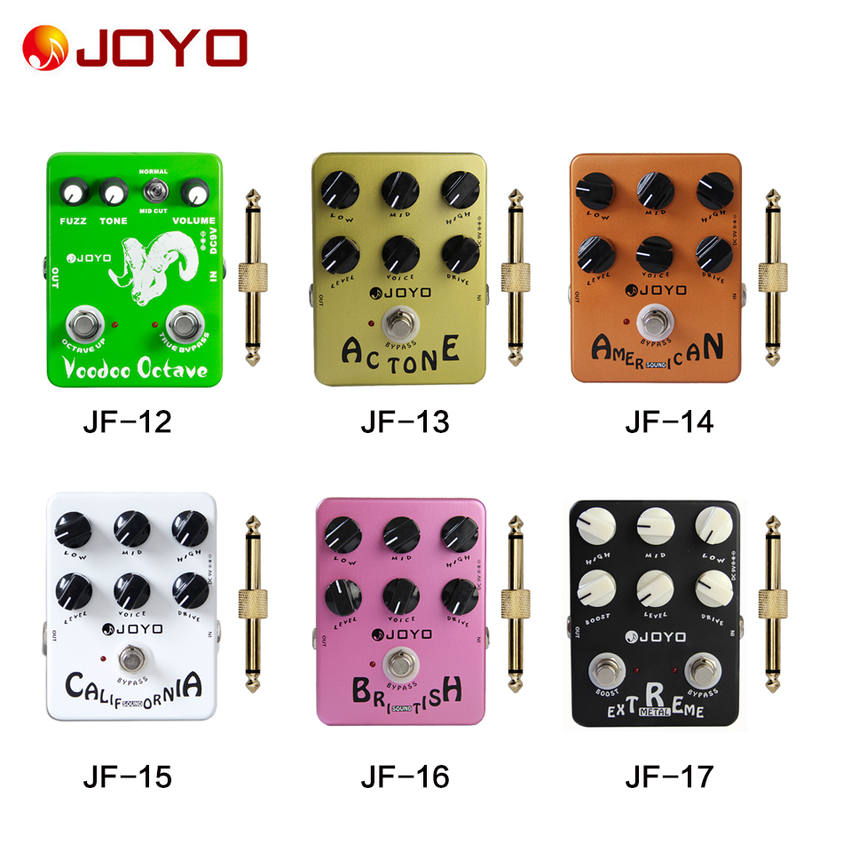 JOYO effect pedal  Deluxe Crunch/Voodoo Octave/Digital Delay/Digital Delay + 1 pc pedal connector(JF-01-JF17) hinds selwyn seyfu dominque voodoo child vol 01