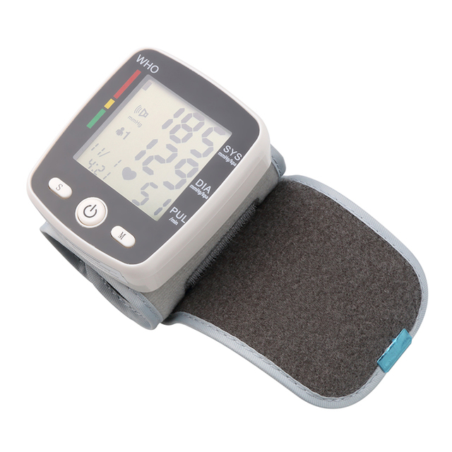 Rechargeable Health Care Germany Chip Automatic Wrist Digital Blood Pressure Monitor Tonometer Meter  Measuring And Pulse Rate 4