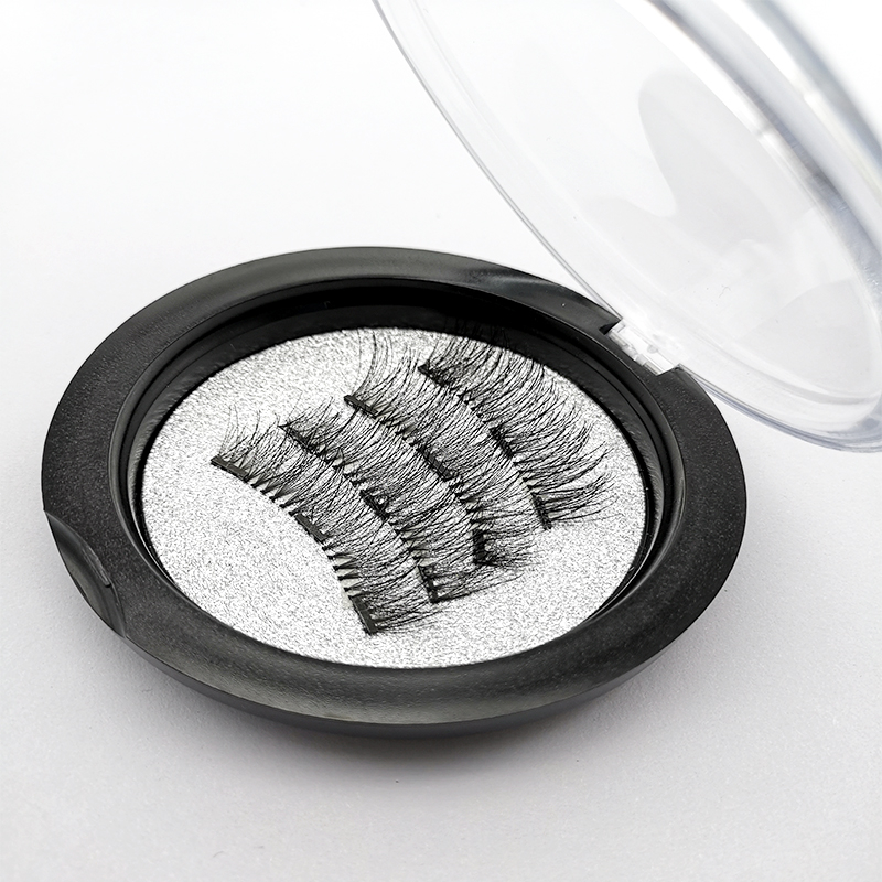 Magnetic eyelashes with 3 magnets handmade 3D/6D magnetic lashes natural false eyelashes magnet lashes with gift box