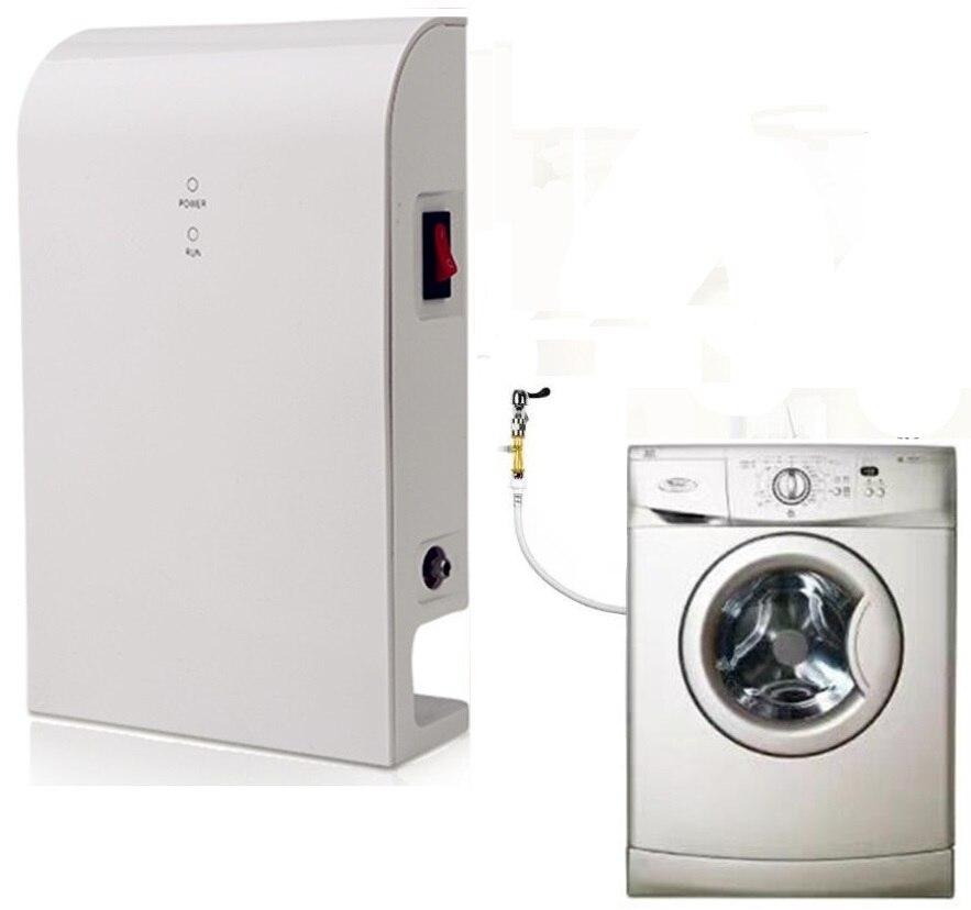 Purificador de agua por ozono, ozonizador de agua, tratamiento de agua por ozono para lavadora y lavandería Válvula de bola electrónica con pantalla LCD para hogar, 2 uds., temporizador de agua para riego del jardín, sistema controlador de temporizador
