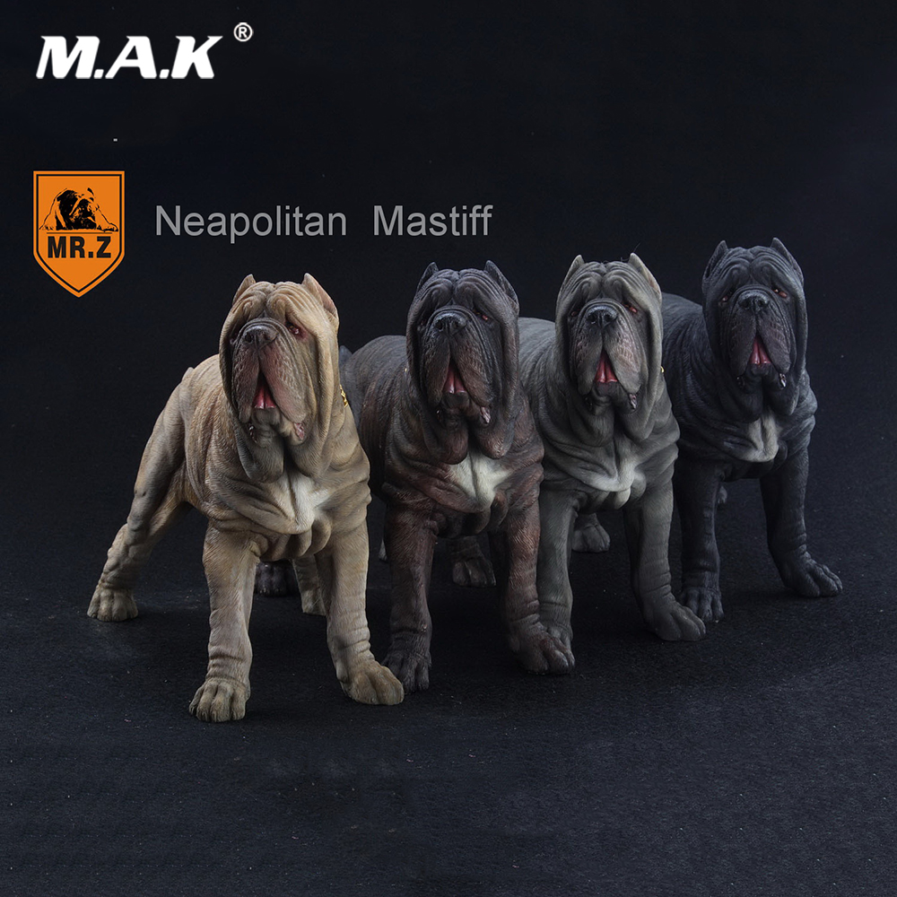 1/6 Scale Action Figure Scence Accessory Mr.Z Neapolitan Mastiff Dog Animal Statue Model Toy 4 Colors for Collection balloon dog 4dmaster animal model action toy figures by jason freeny naked dog art can see through the body dog for collection