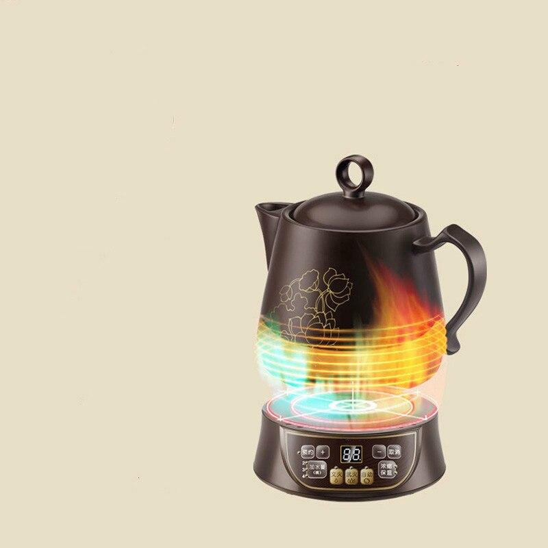 Электрический чайник Керамика полностью автоматический интеллектуальный здоровья повышение жарки традиционной китайской медицины безоп