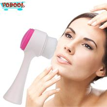 1pc Exfoliating Blackhead Multifunction Double-sided Facial Face Care Cleaning Brush Wash Cap Scrub Tool Drop Shipping