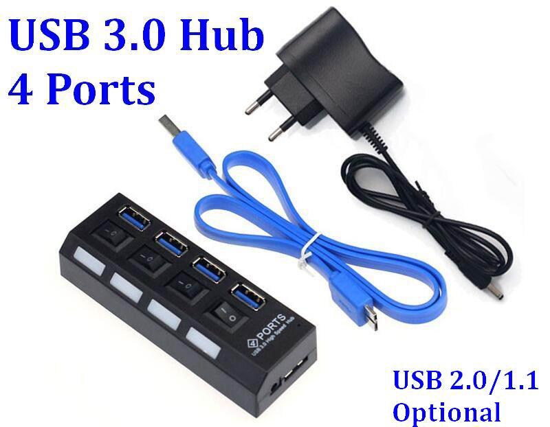 500pcs 4 ports USB 3 0 High Speed Hub usb 3 0 Portable USB Hub With
