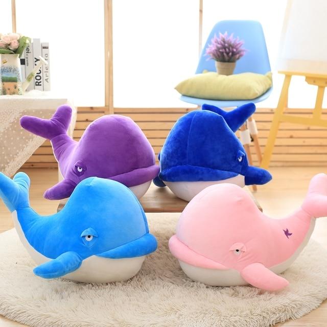 1 pcs doux baleine animal en peluche jouet en peluche baleine oreiller home decor anniversaire cadeaux
