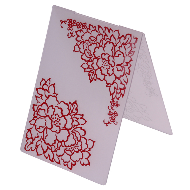 Flower Frame Corner Plastic Embossing Folder for DIY Scrapbooking ...