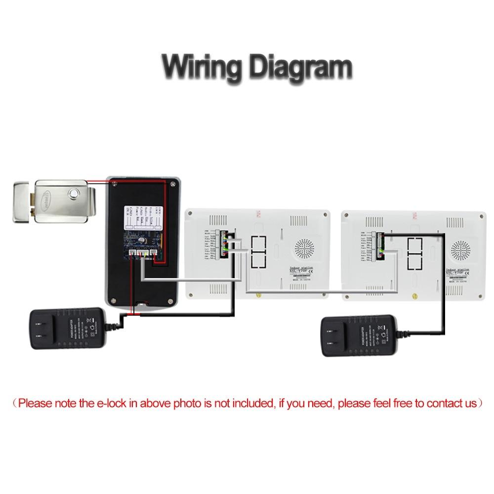 Intercom Wiring Diagram Monitor Cat5e Schematic System Aliexpresscom Buy Wired Rfid Video Rainproof Ir On
