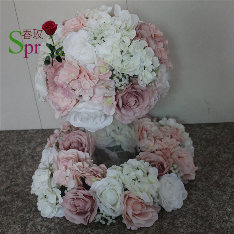 SPR Free shipping 10pcs lot wedding road lead artificial flower ball wedding table flowers centerpiece flower