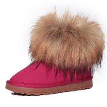 Women's Shoes Thick Fur Fashion Snow Boots 2018 New Winter Cotton Warm Shoes For Women Ankle Boots