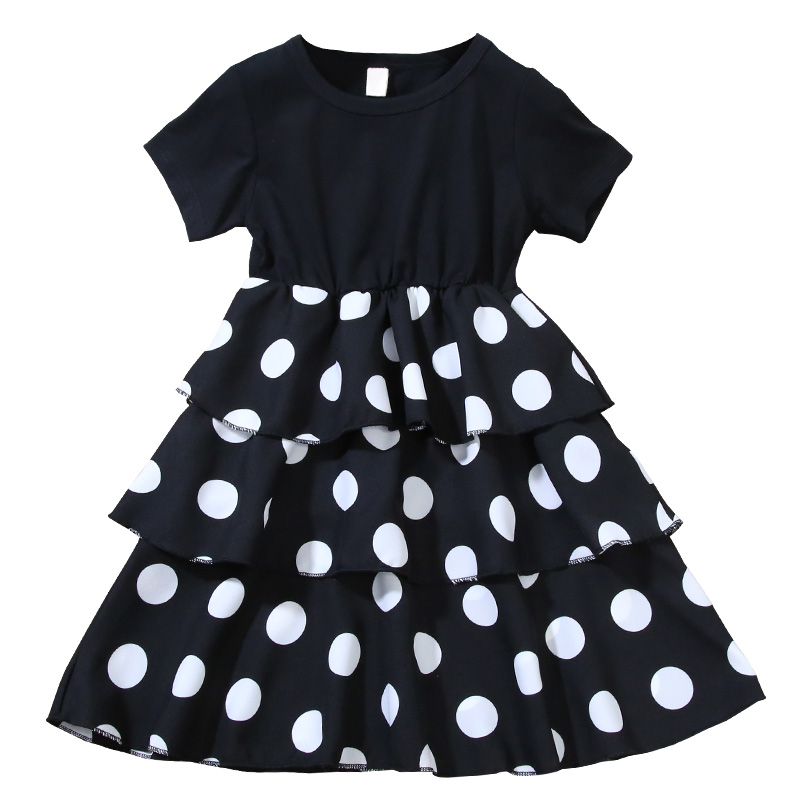 Girls Layered Dresses for Party and Wedding Kids Princess Dot Dress for Toddler Girl Clothes Summer Dot Layered Dress In Kids 1