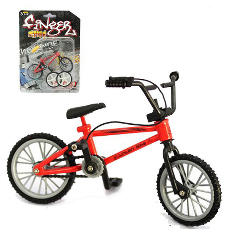 Alloy Mini Finger BMX bike toys Model Bicycle Fixie with 2 Spare Tire Tools toy Finger bikes boy gift