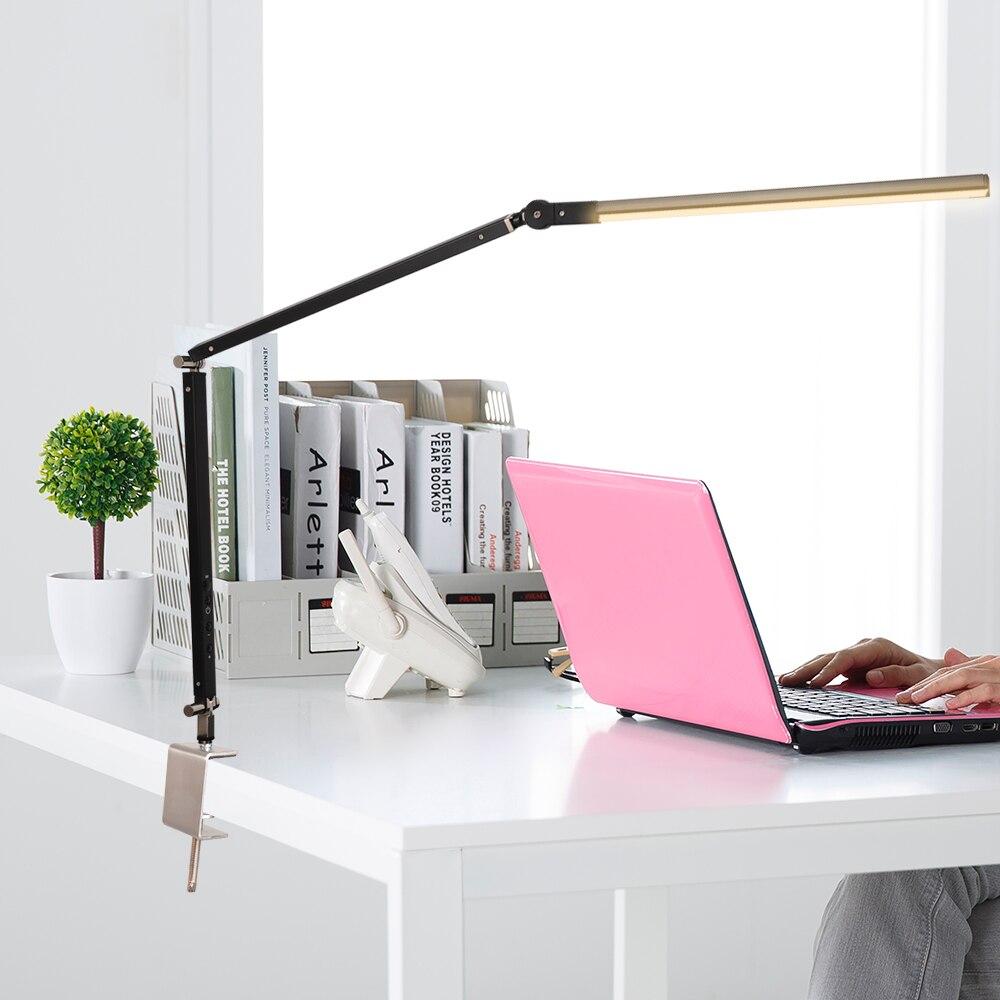 Artpad 8 W lampe de bureau manucure blanc noir argent corps trois couleurs température télécommande lampe réglable pour Luminaire de Table