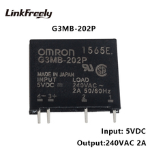 G3MB-202P PCB SSR Voltage Relay Module 5VDC Input 240V 2A Output DC Control AC Micro Solid State Relay 12V 24V kzltd single phase solid state relay 400a 4 20ma 0 5vdc 0 10vdc to 20 480v ac voltage regulator module 400a ssr relay relais