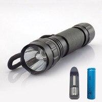 Uv-led Taschenlampe uv-lampe lila farbe blitzlampe Taschenlampe wiederaufladbare linterna für geld + 18650 batterie