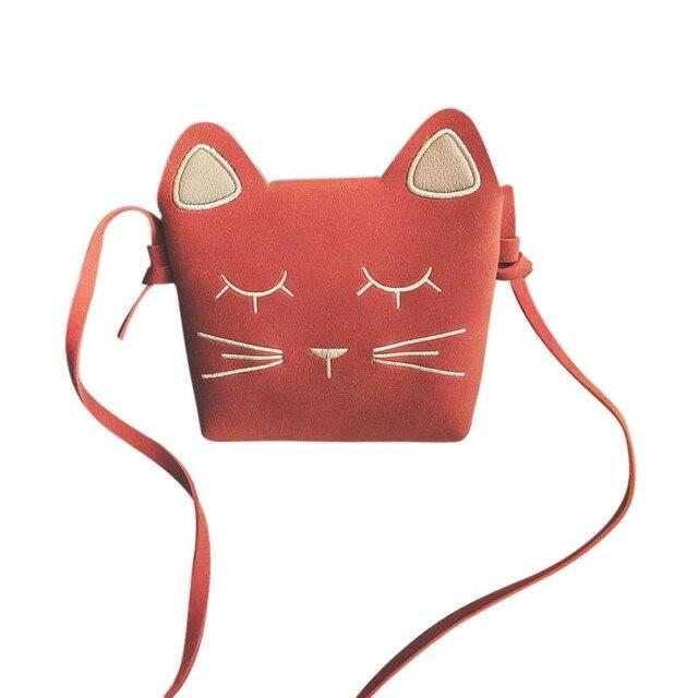 e4dfcc8e4 Gato encantador mini pu Bolsas para Niñas mensajero Bolsas princesa estilo  niños para niños Carteras