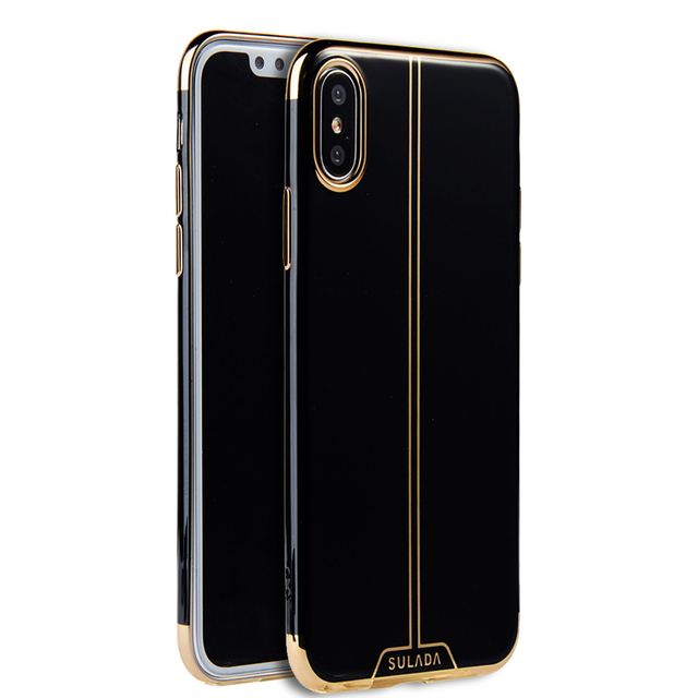 new product 0df78 b19b4 US $9.85 |Luxury Jet Black Plating Case for iPhone X Case Soft Silicone  Bright Black Glossy Shell Back Cover for Apple iphone X 2017 New-in Fitted  ...
