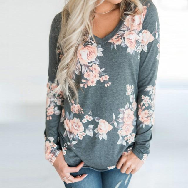 f636eb9911d5a T Shirt Fashion Women Loose Top Long Sleeve Ladies Casual Tops Women T-Shirt  Chemise Femme Manche Longue#F