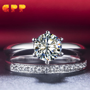 Classic 1 Carat NSCD simulated diamond wedding ring setbridal set