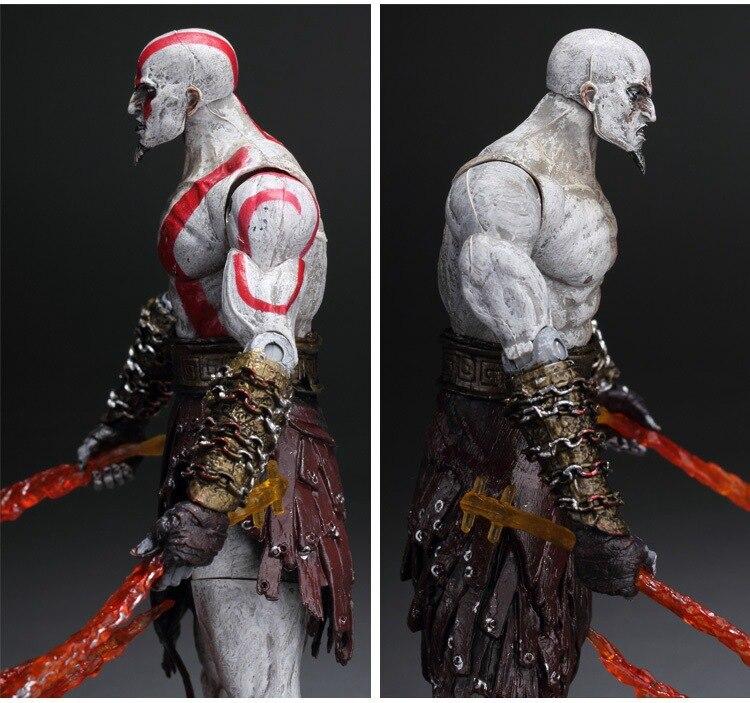 GZTZMY NECA God of War 2 Figures Kratos Action Figure Kratos in Golden Fleece Armor with Medusa Head Toy for kids gifts (5)