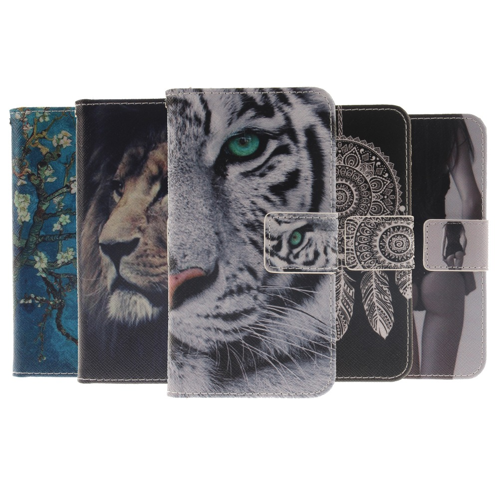 Flip Leather Mobile Phone coque Case For LG Q6 M700 M700A M700AN Case Tiger Cover for LG Q6 Plus / Q6 case fundas for LG Q6 capa